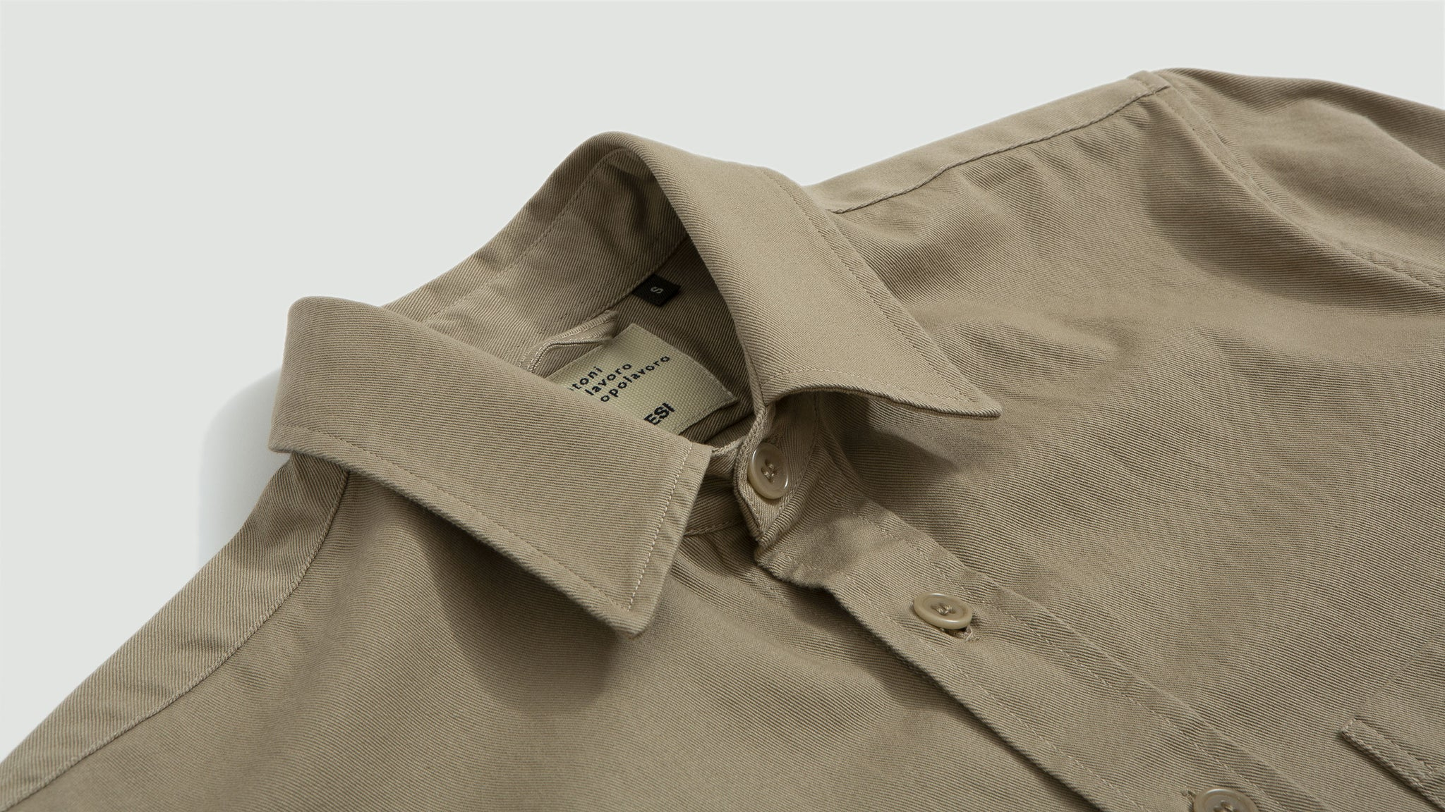 Aspesi. Cotton overshirt beige