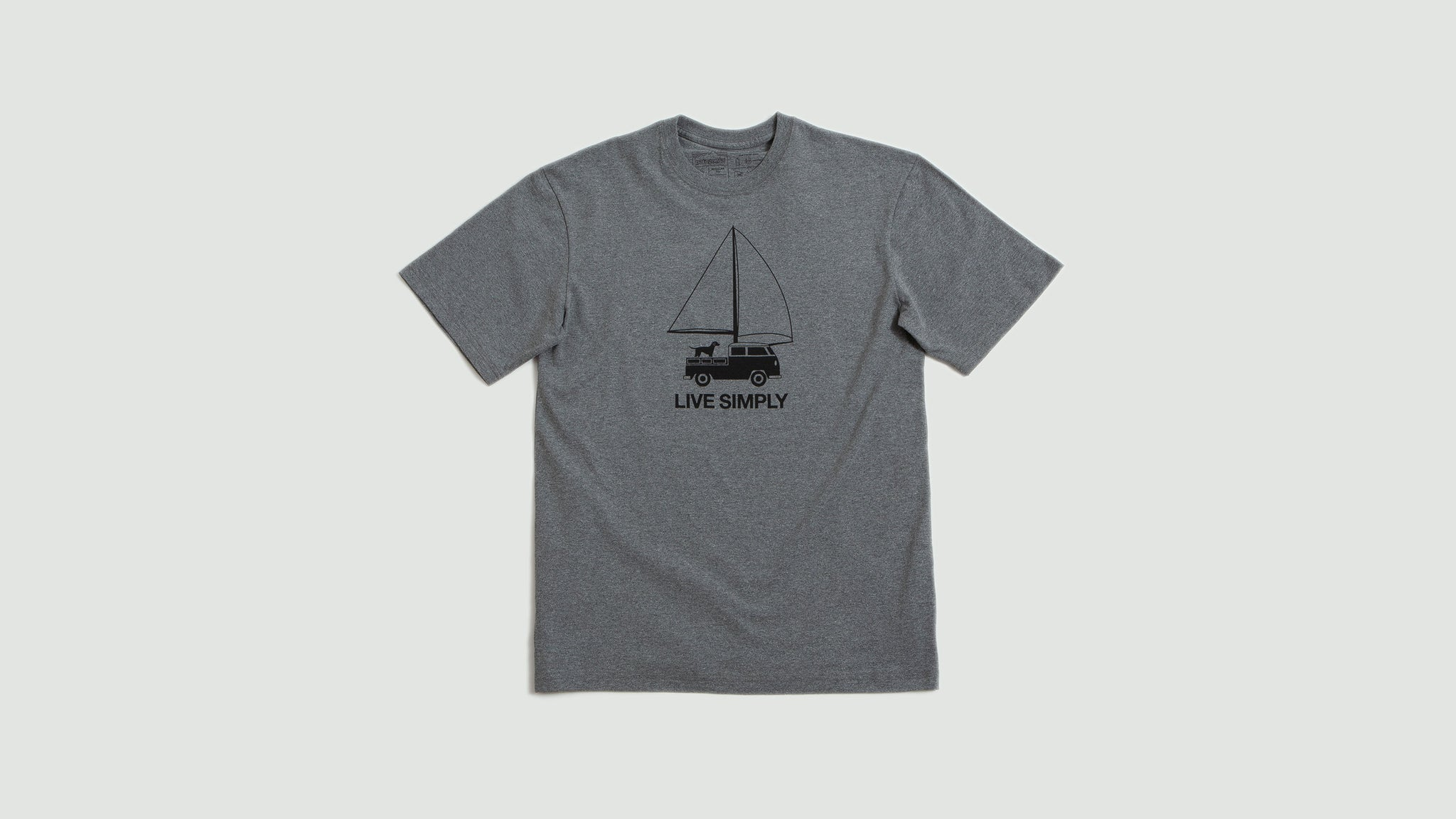 Patagonia. Mens Live simply wind t-shirt gravel heather