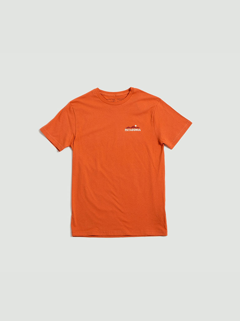Patagonia. Mens The Less You t-shirt orange