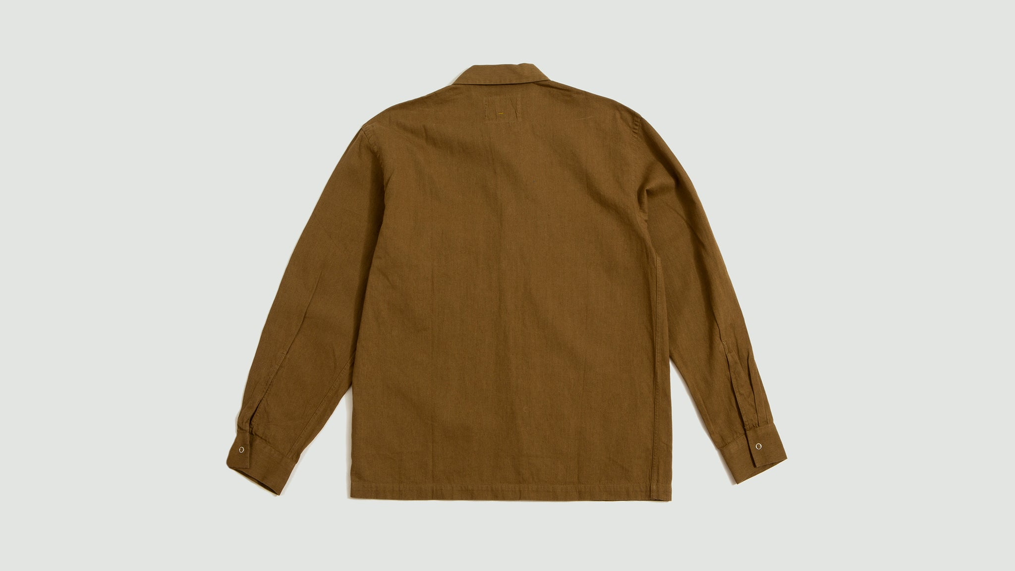Margaret Howell. Factory shirt linen cotton khaki