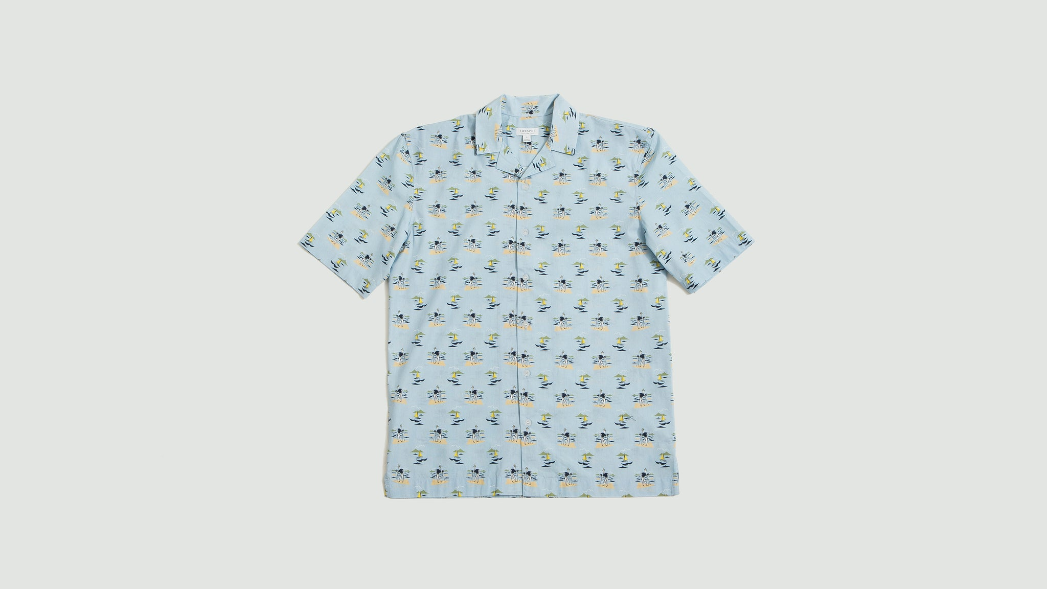 Sunspel. Short sleeve shirt sorimachi camera man print