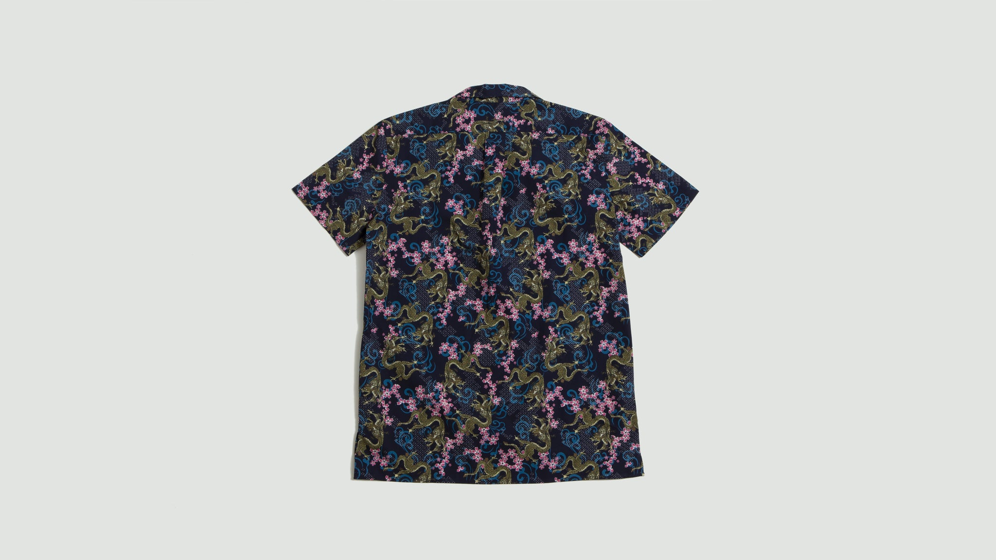 Libertine Libertine. Cave S/S shirt navy dragon