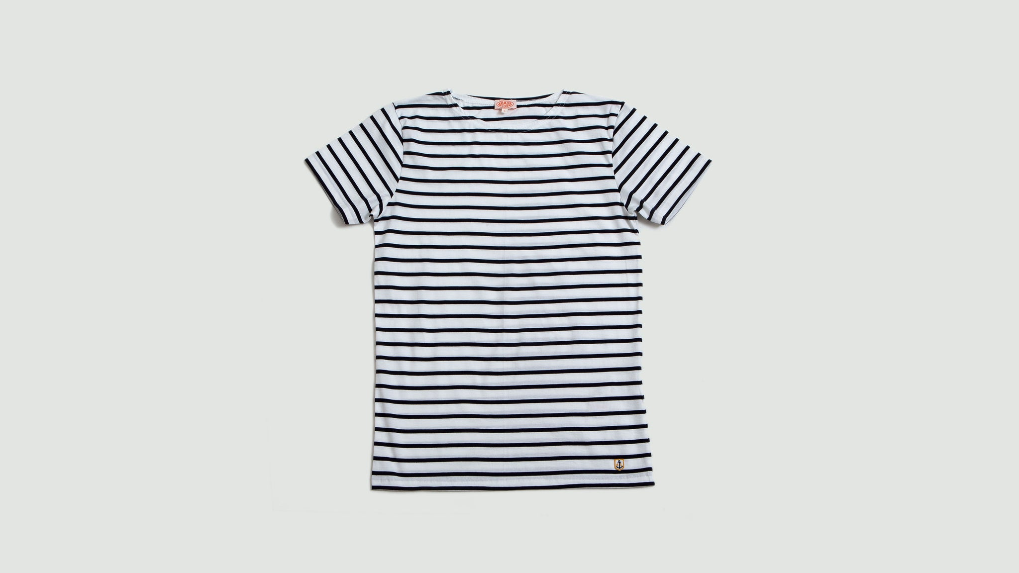 Armor Lux. Sailor shirt s/s white/navy