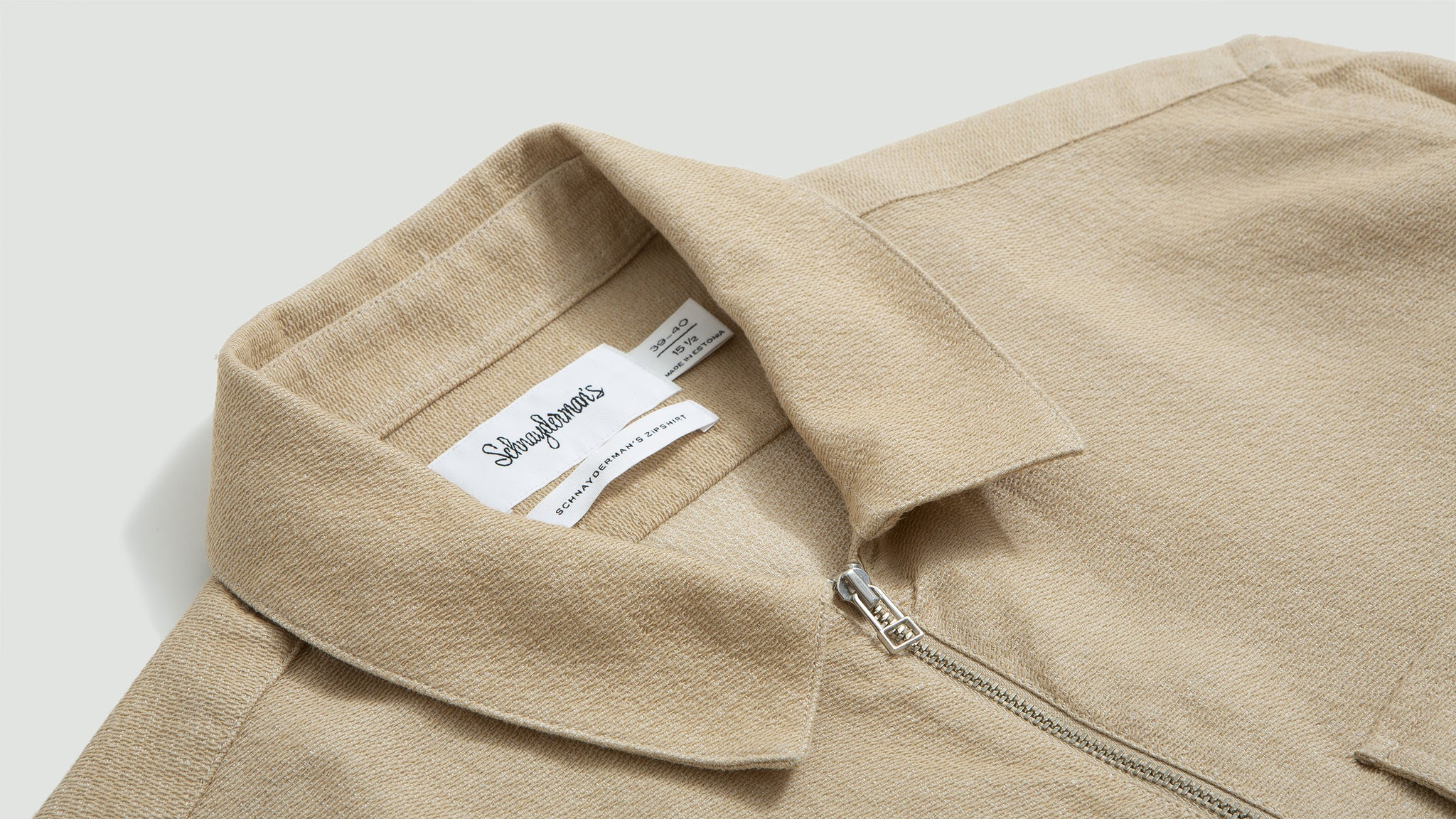 Zipshirt structured one beige