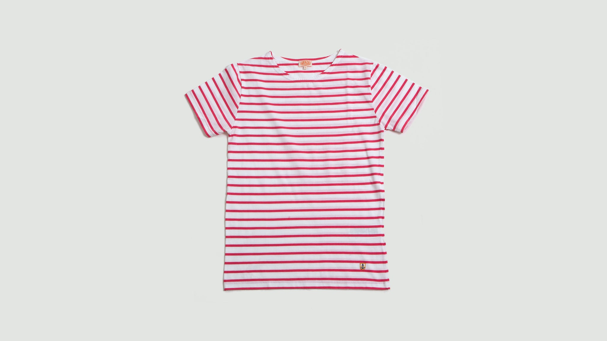 Armor Lux. Sailor shirt SS white/new pink