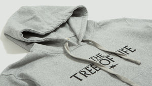 Tree of life hoodie grey melange