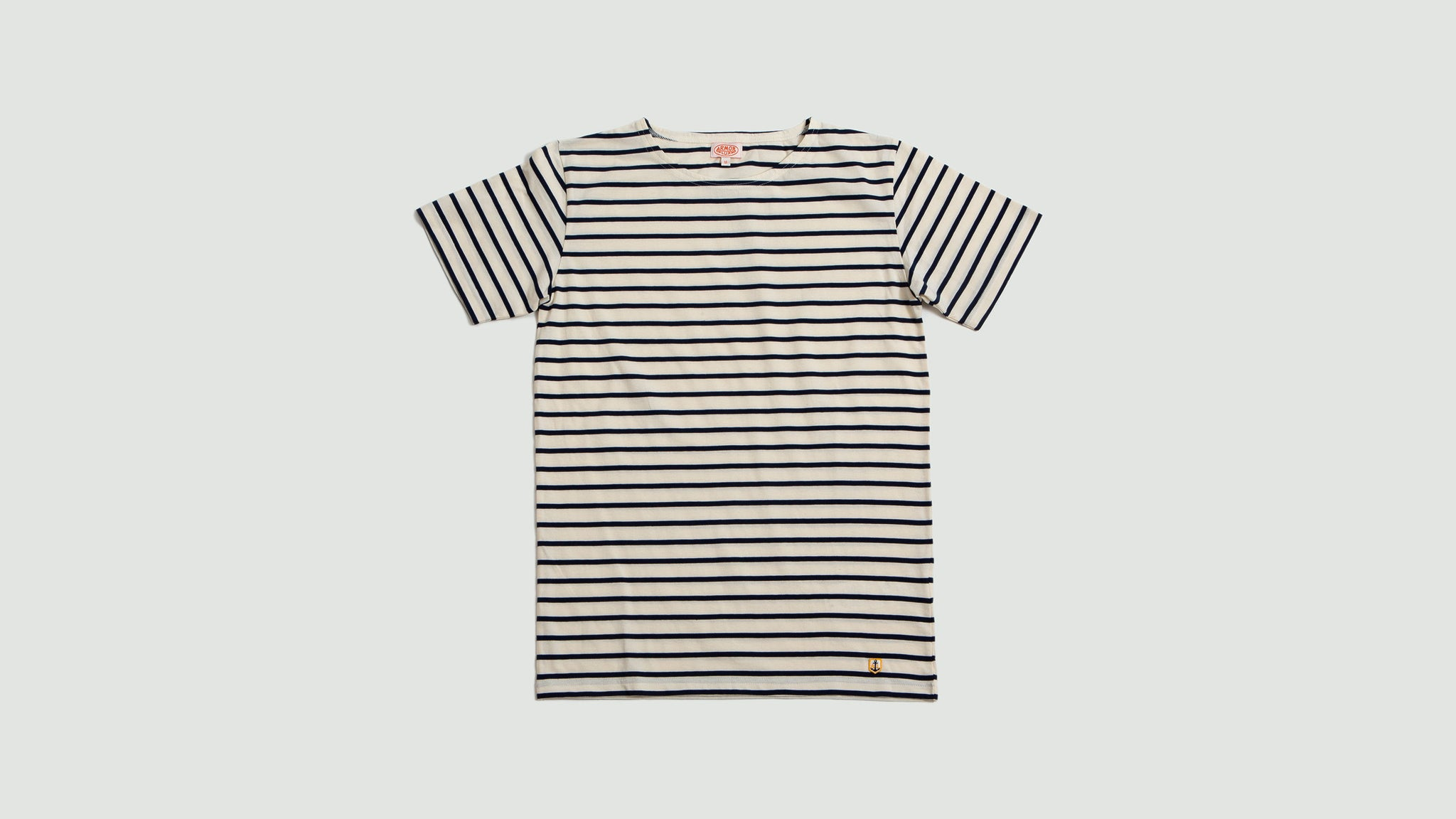 Armor Lux. Sailor shirt SS navy/offwhite