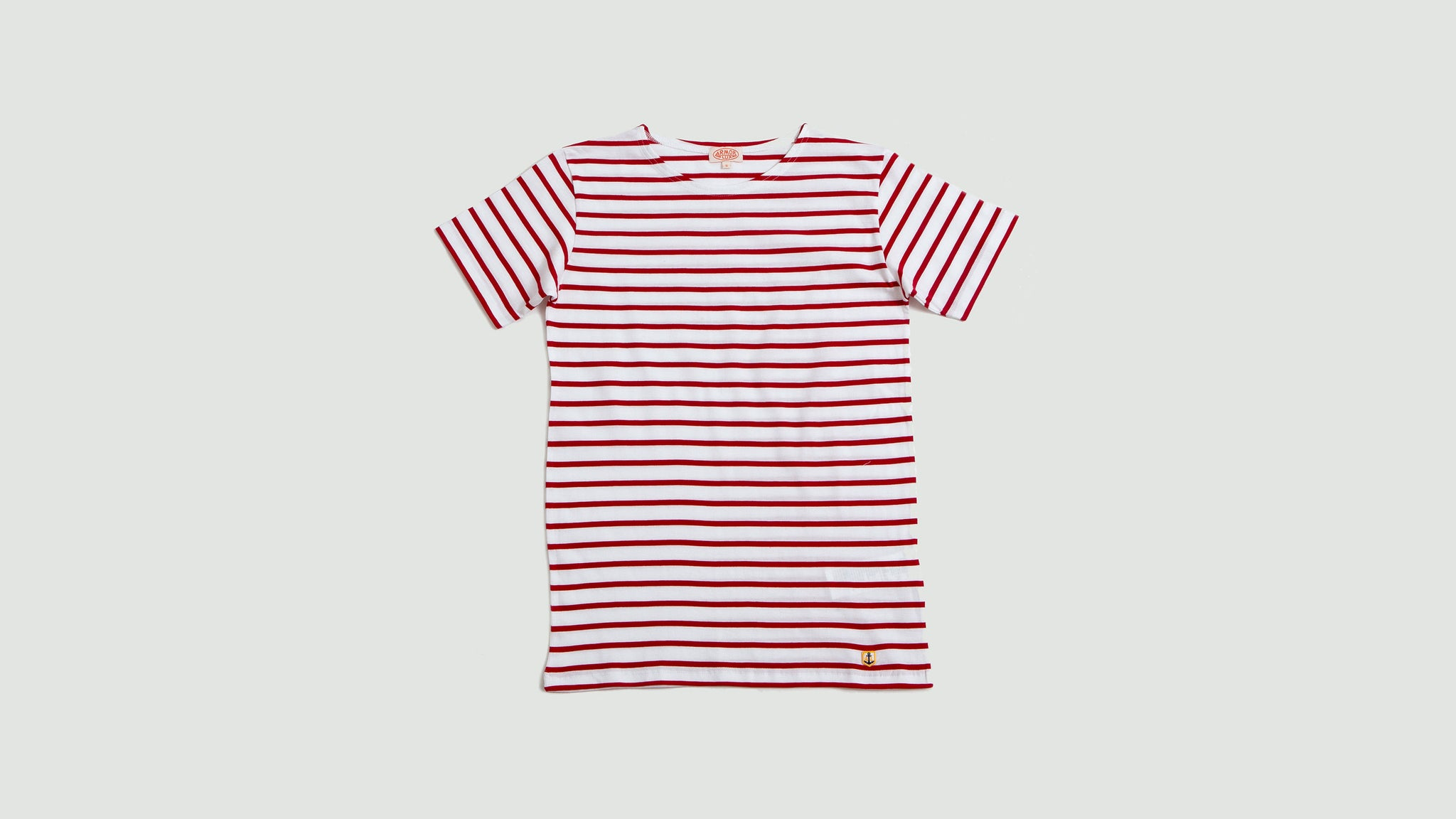 Armor Lux. Sailor shirt s/s white/dark red