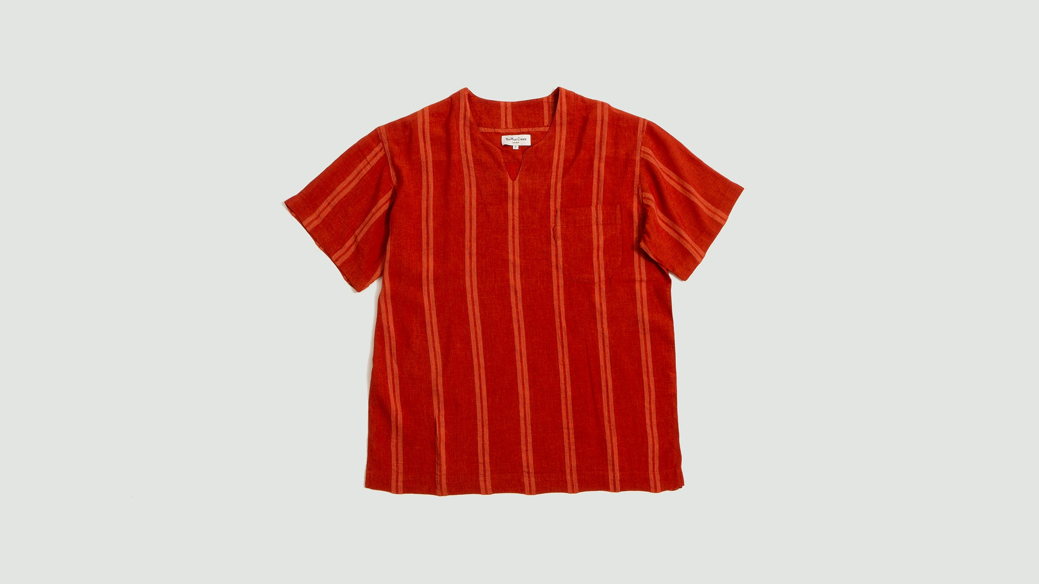 YMC. Chicano shirt orange