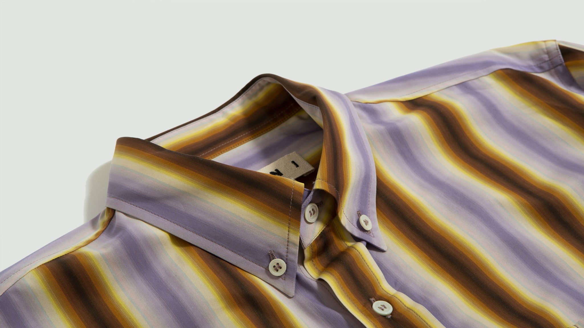 Marni. Degrade stripe shirt lilac/brown
