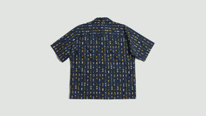 Fishing print shirt blue