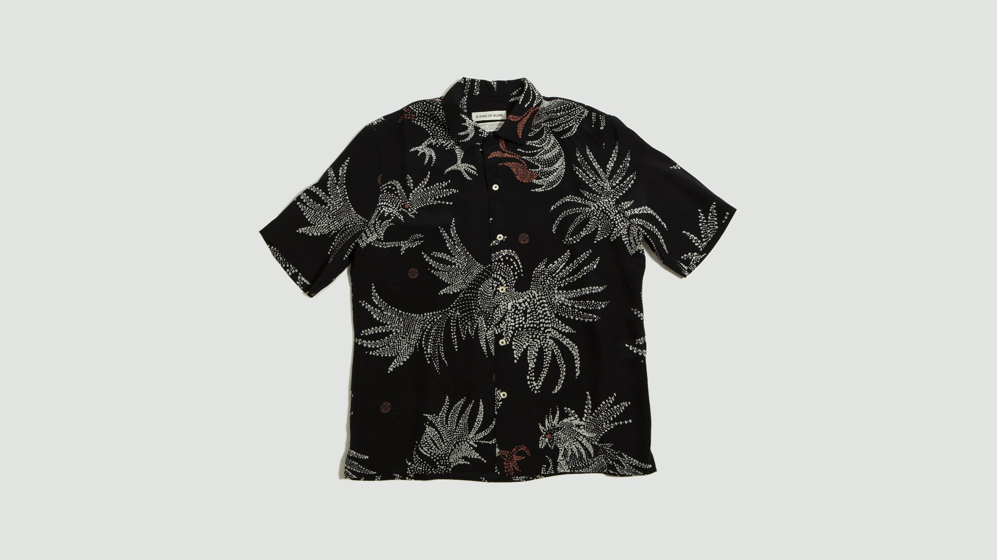 A Kind of Guise. Gioia shirt silk black rooster