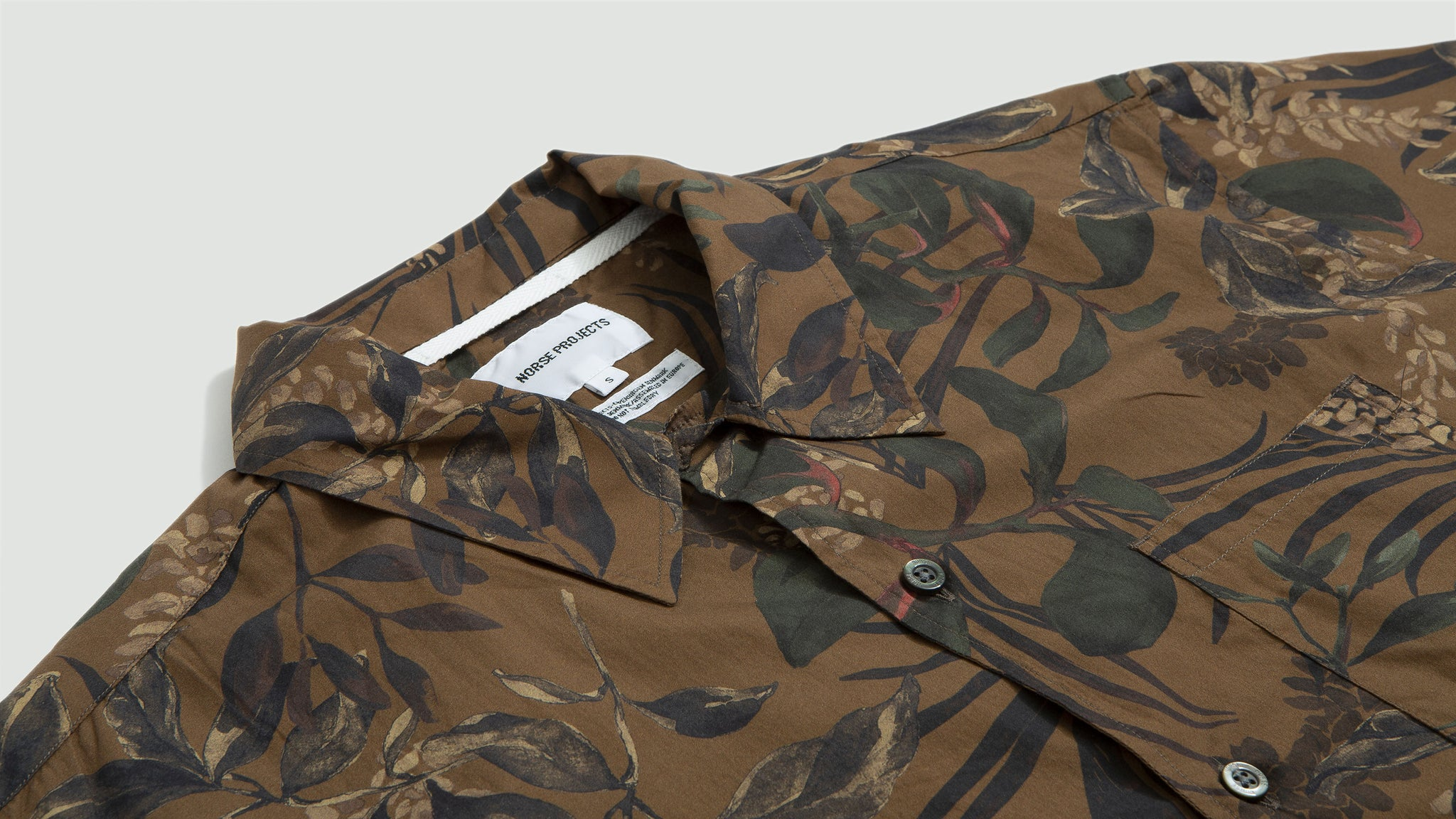 Norse Projects. Carsten print russet