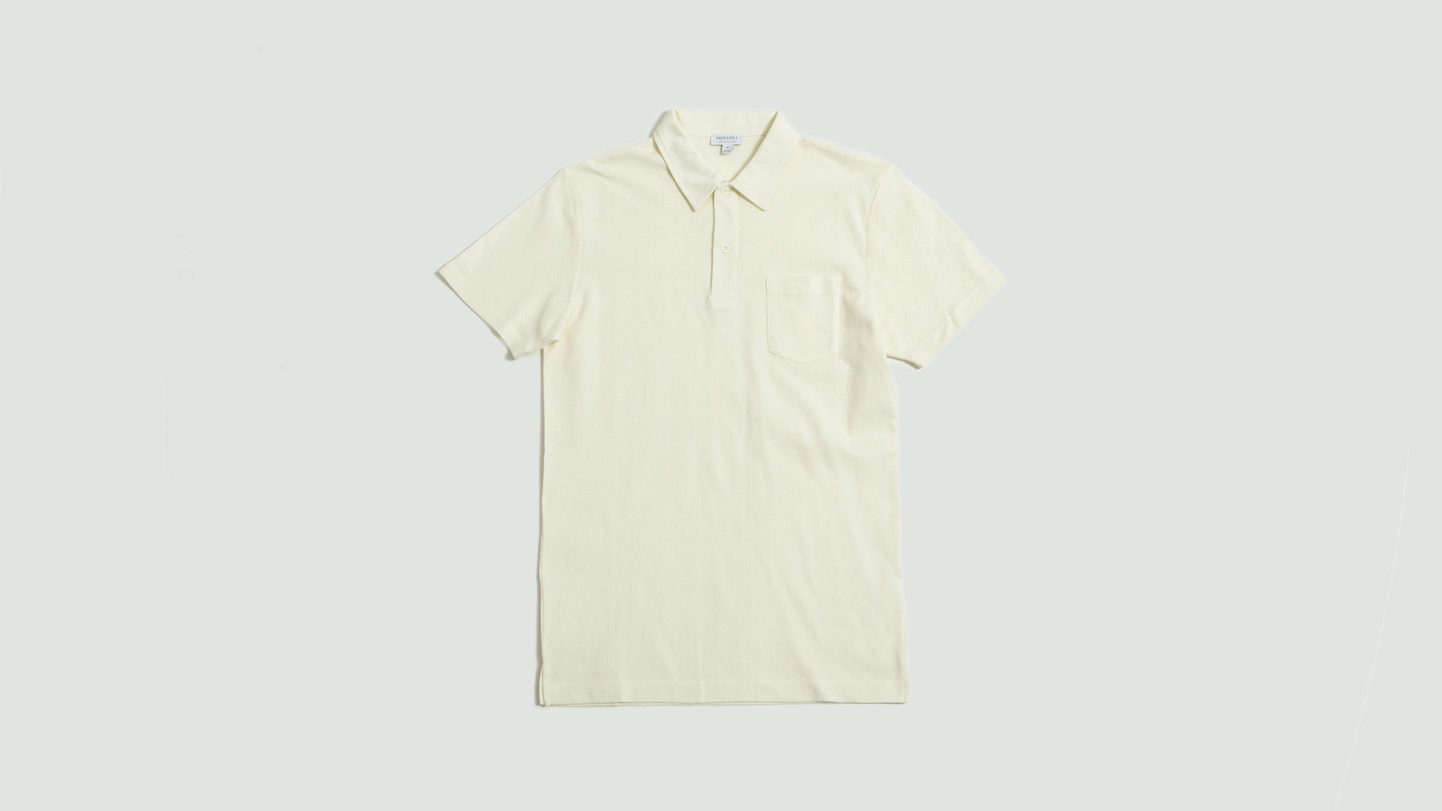 Sunspel. Riviera polo archive white