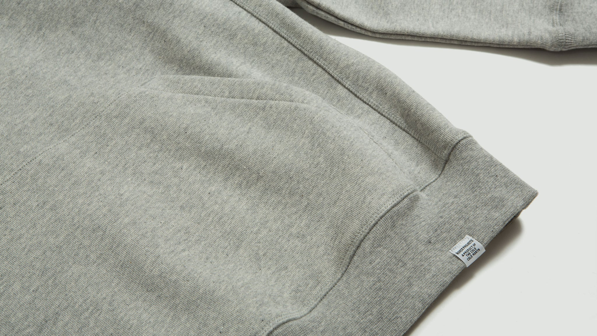 Norse Projects. Ketel Hood GFAS grey melange