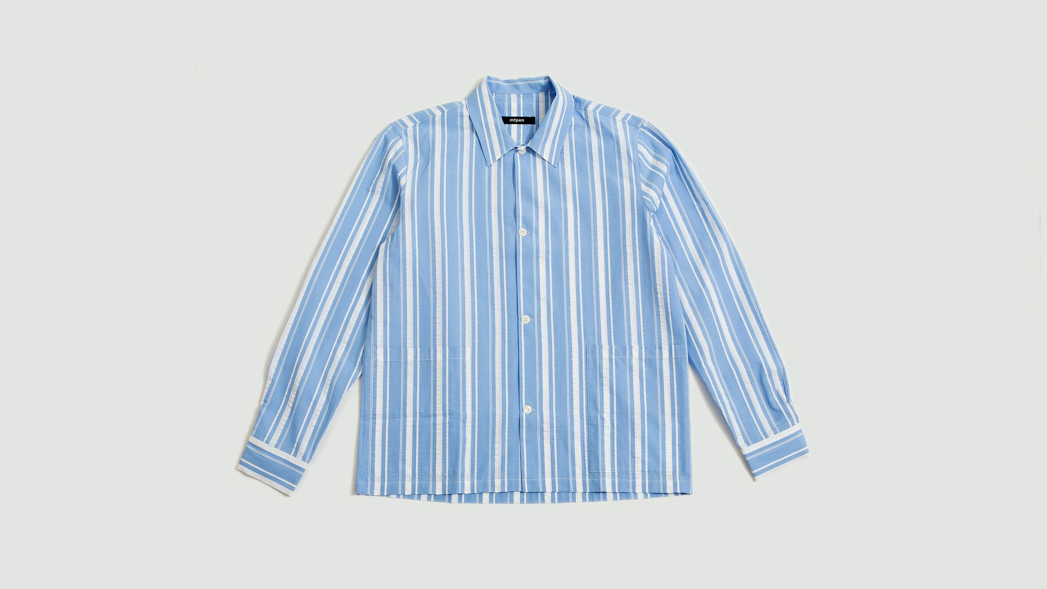 mfpen. Lab shirt blue