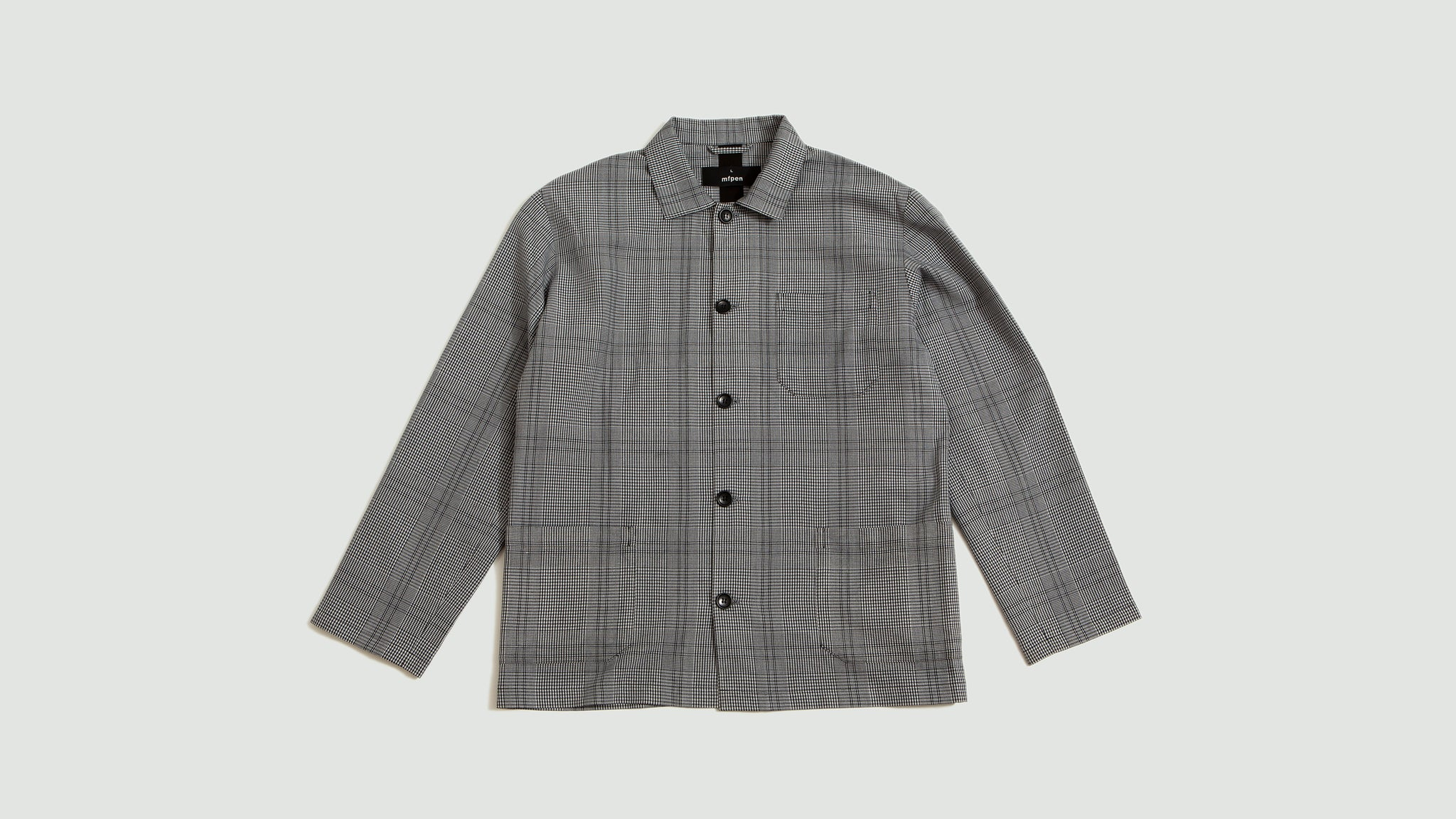 mfpen. Studio coat black check