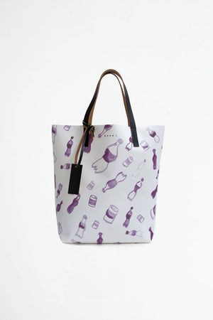 Shopping bag waste print
