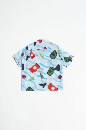 Printed shirt blue