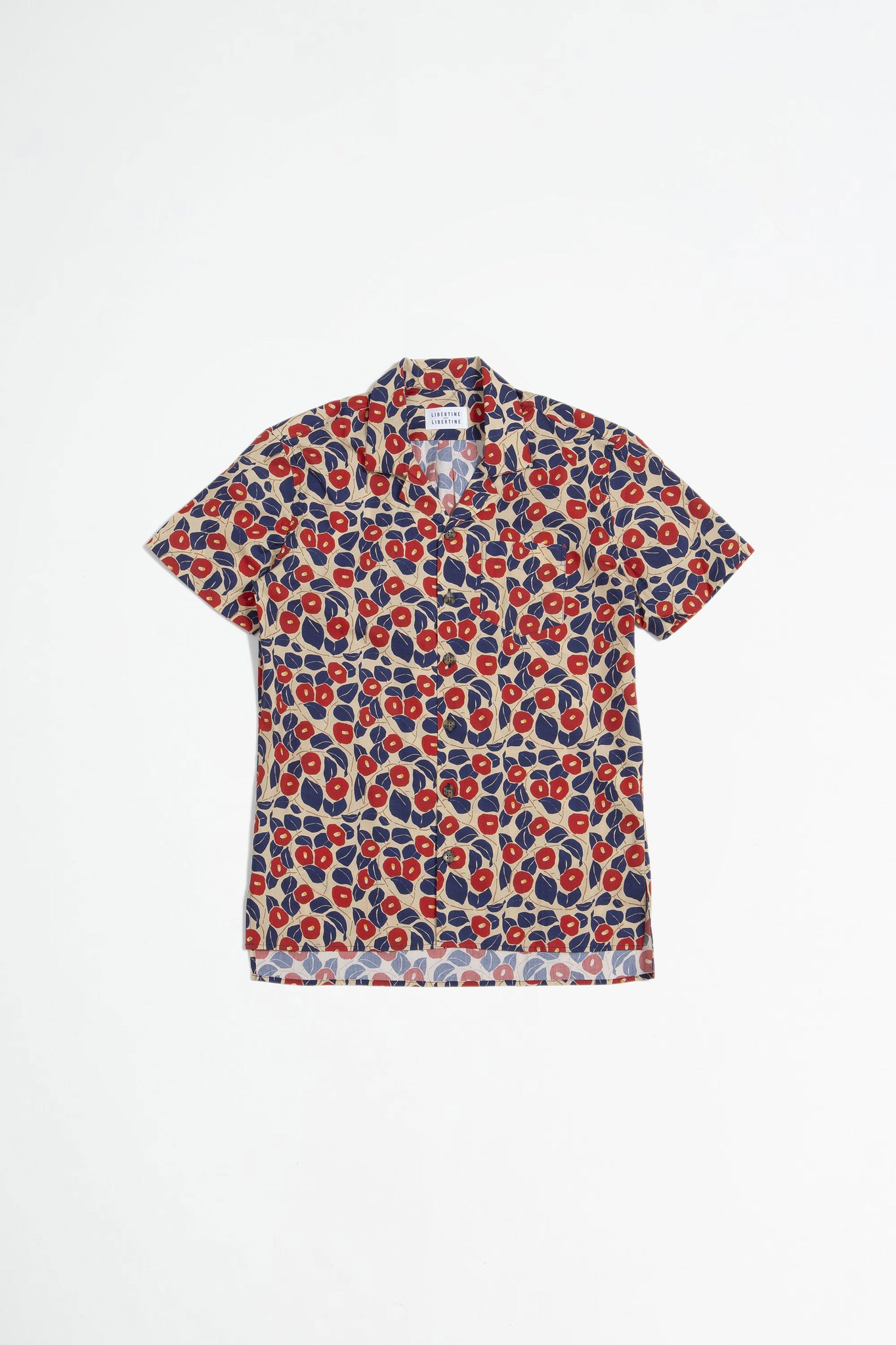 Cave S/S shirt red flower