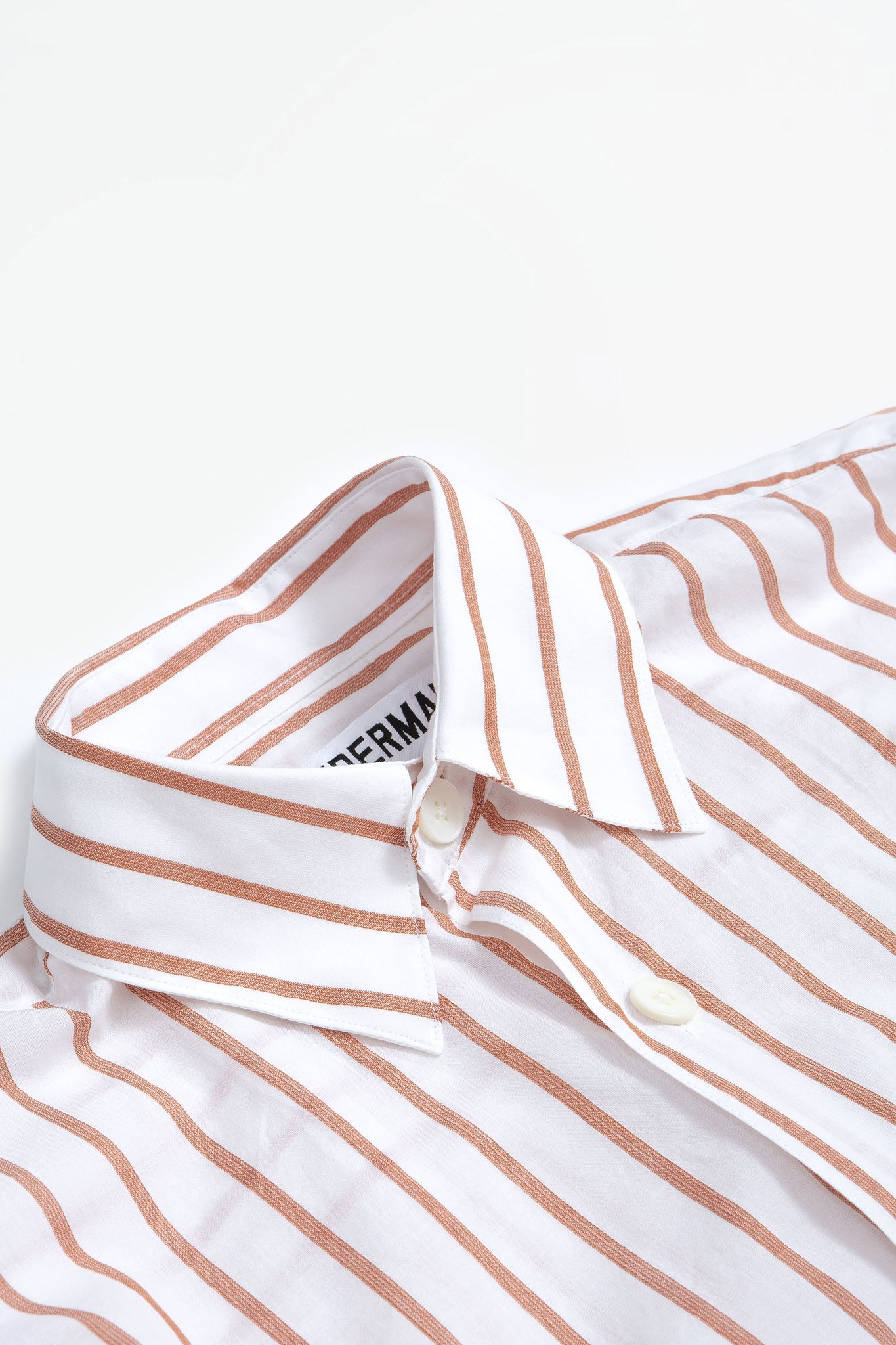 Shirt oversized stripe SS terracota