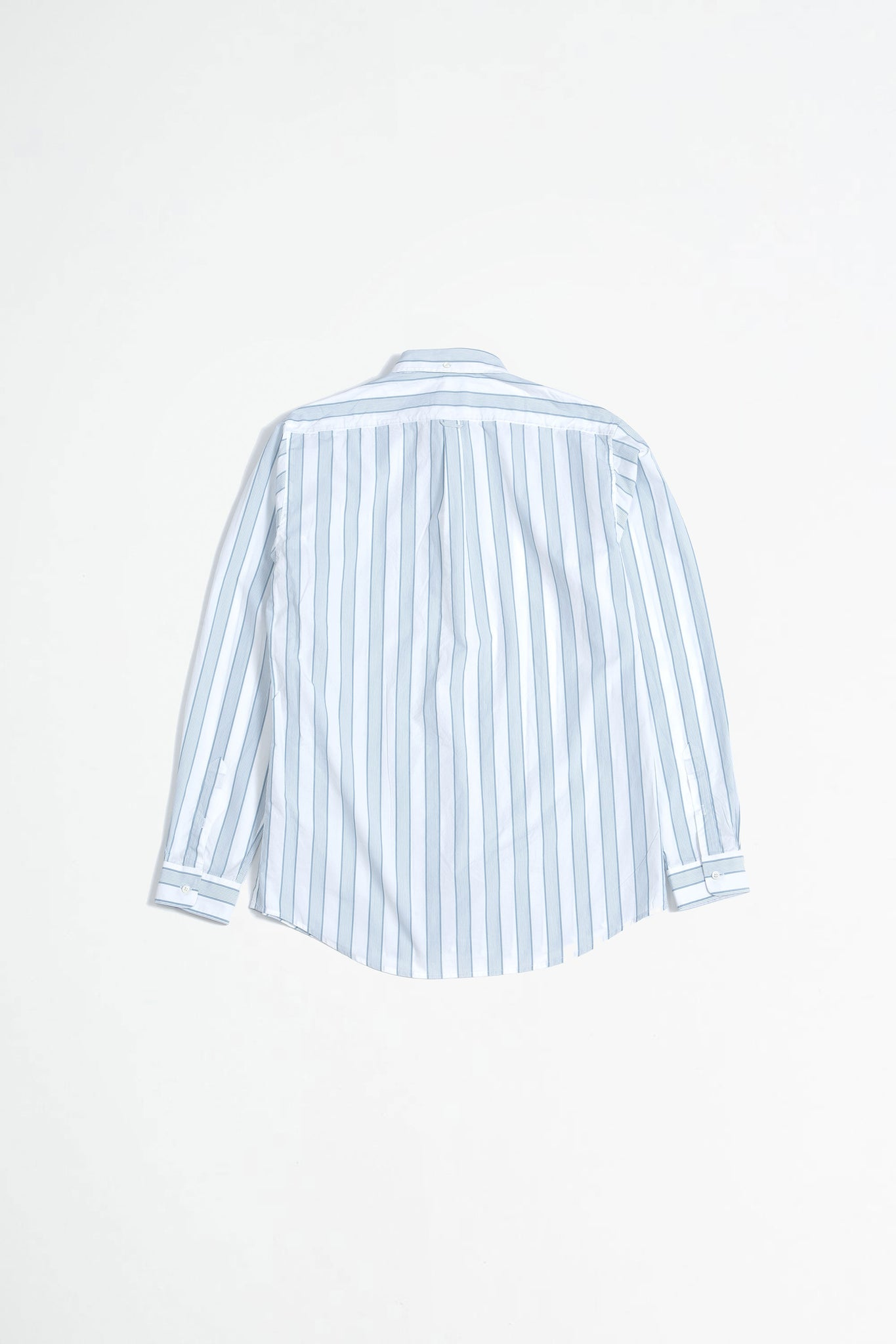 Shirt BD stripe in stripe green/white