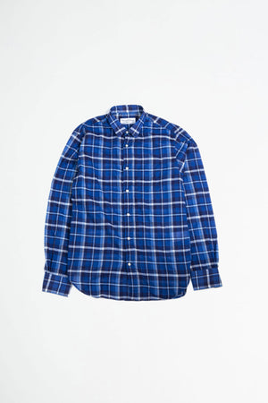 Lipp stitch shirt check indigo/white