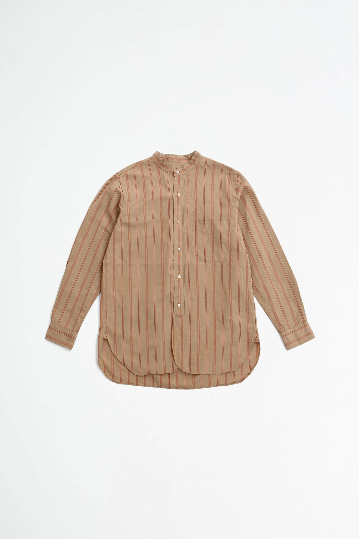 Banded collar shirt natural