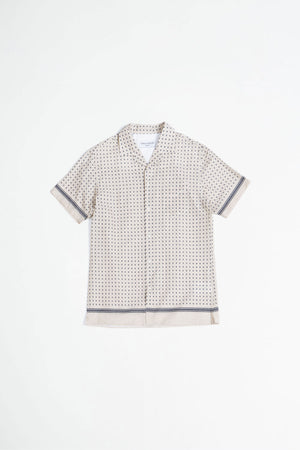 Dario shirt placed dots sand/navy