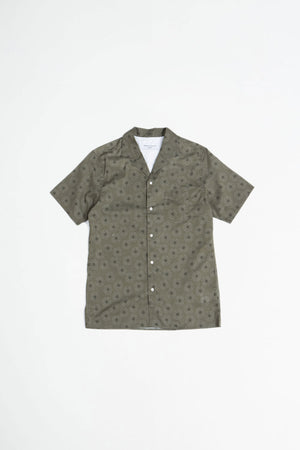 Dario shirt shibori flower olive/grey