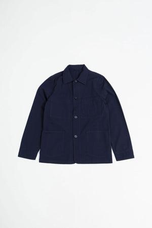 Chore jacket seersucker navy