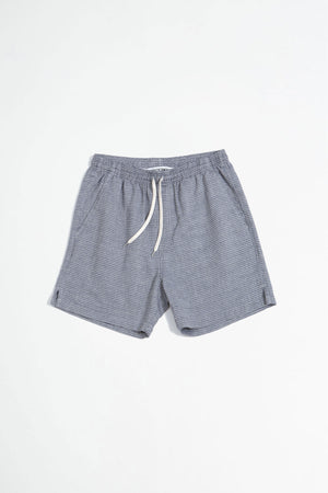 Shorts melange check blue and grey