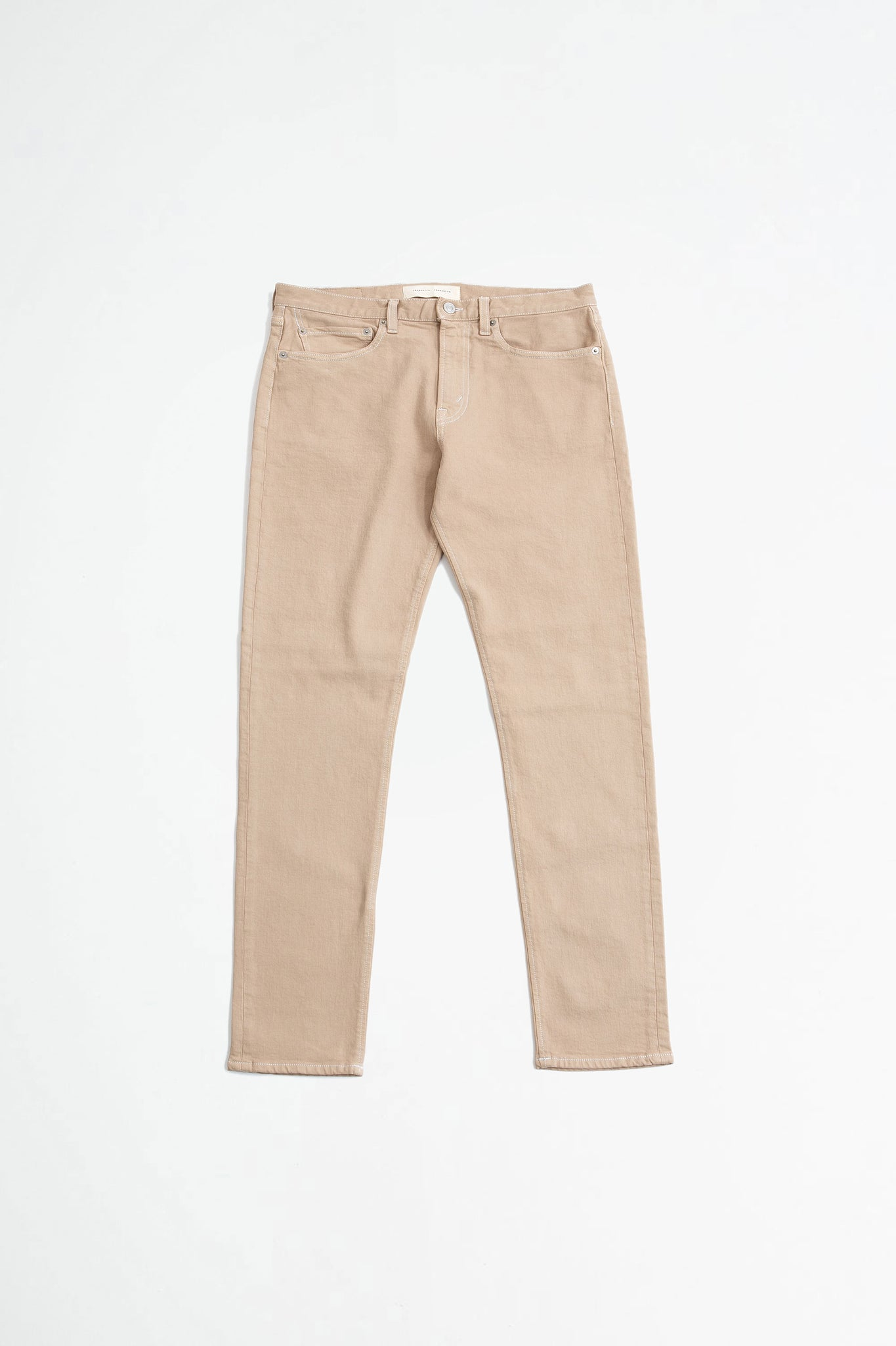 Tapered 5 pocket trousers beige