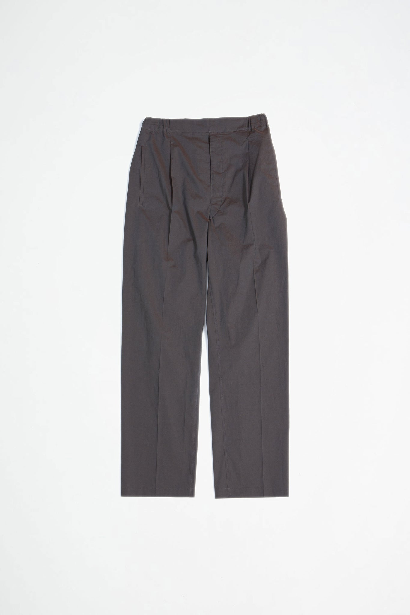 Pleated drawstrings pants coffee