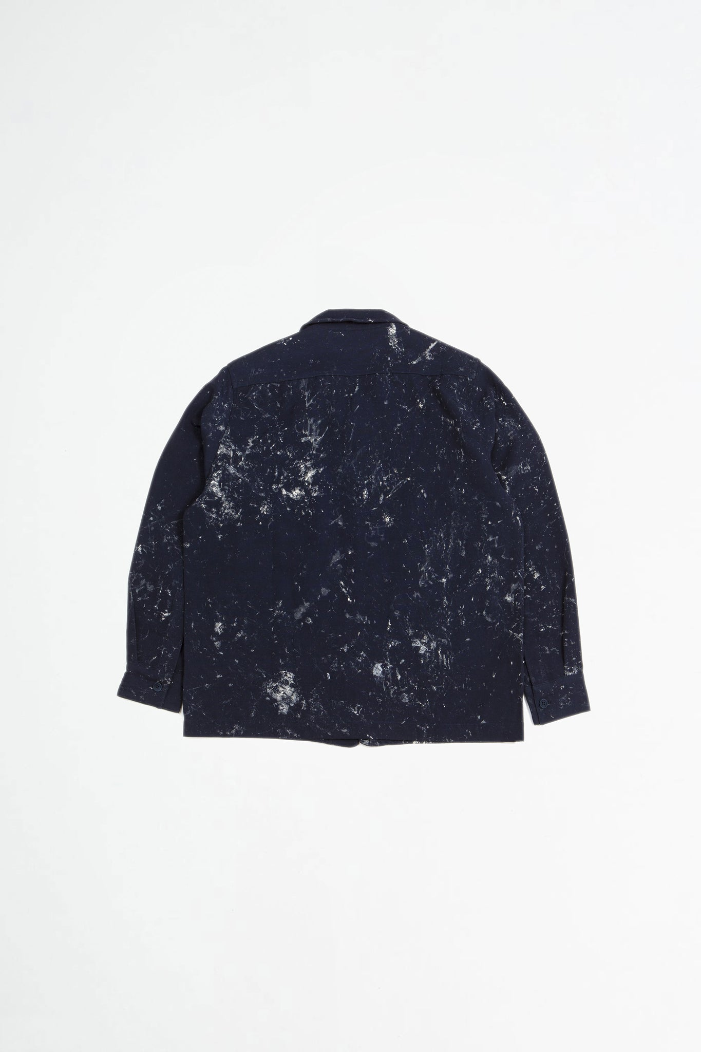 Overshirt boxy handpainted navy