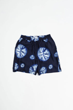 Front shorts navy tie dye