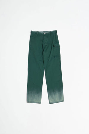 Dyed cargo trousers green