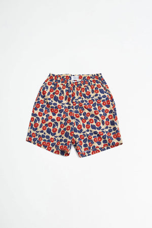 Front shorts red flower