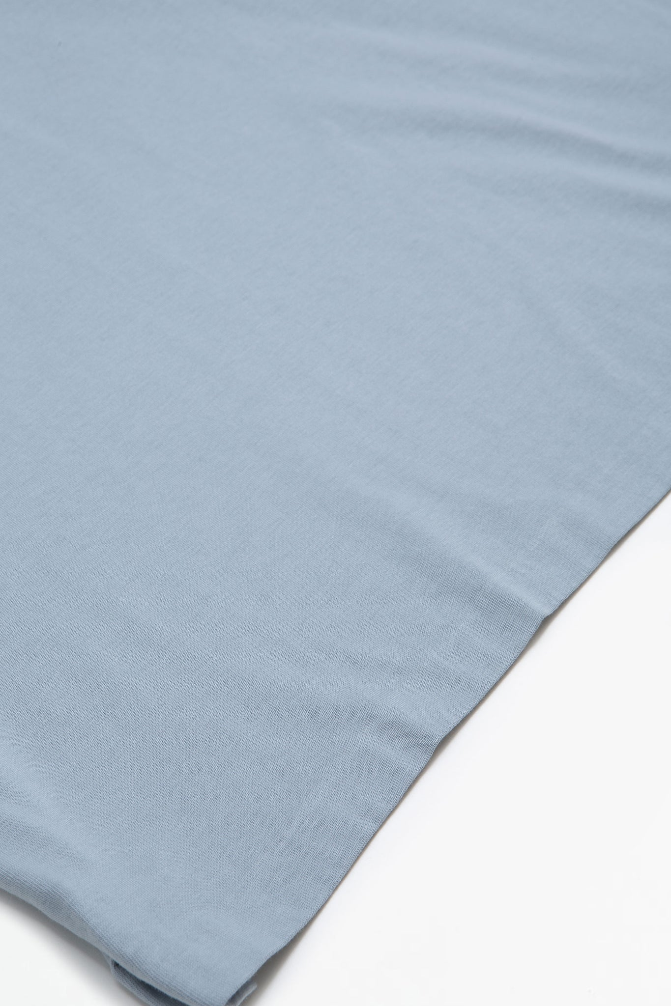 Short sleeved cotton jersey t-shirt blue