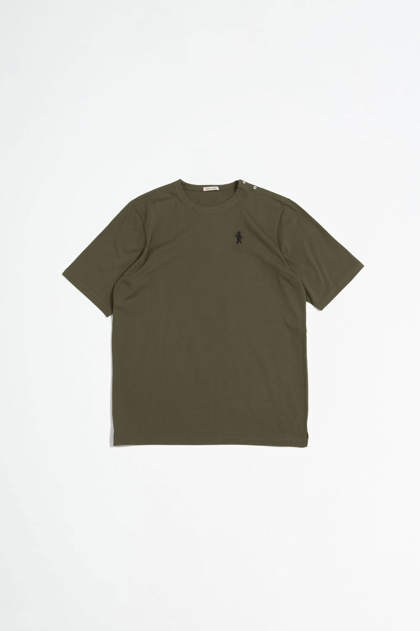 Short sleeved cotton jersey t-shirt green