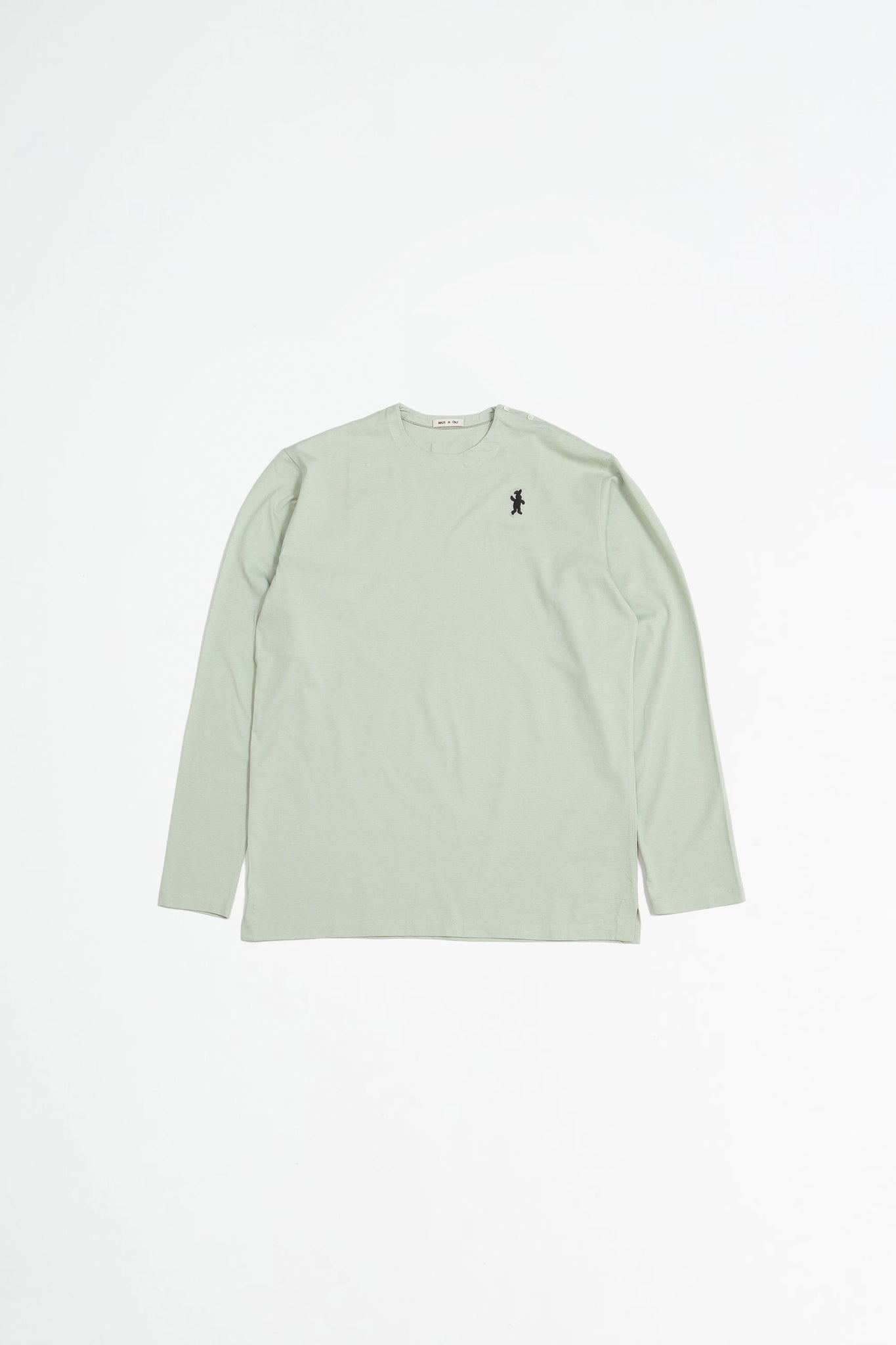 Long sleeved cotton jersey t-shirt olive