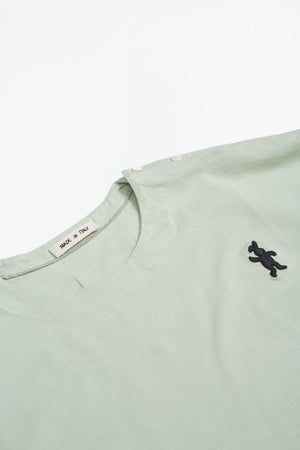 Short sleeved cotton jersey t-shirt olive