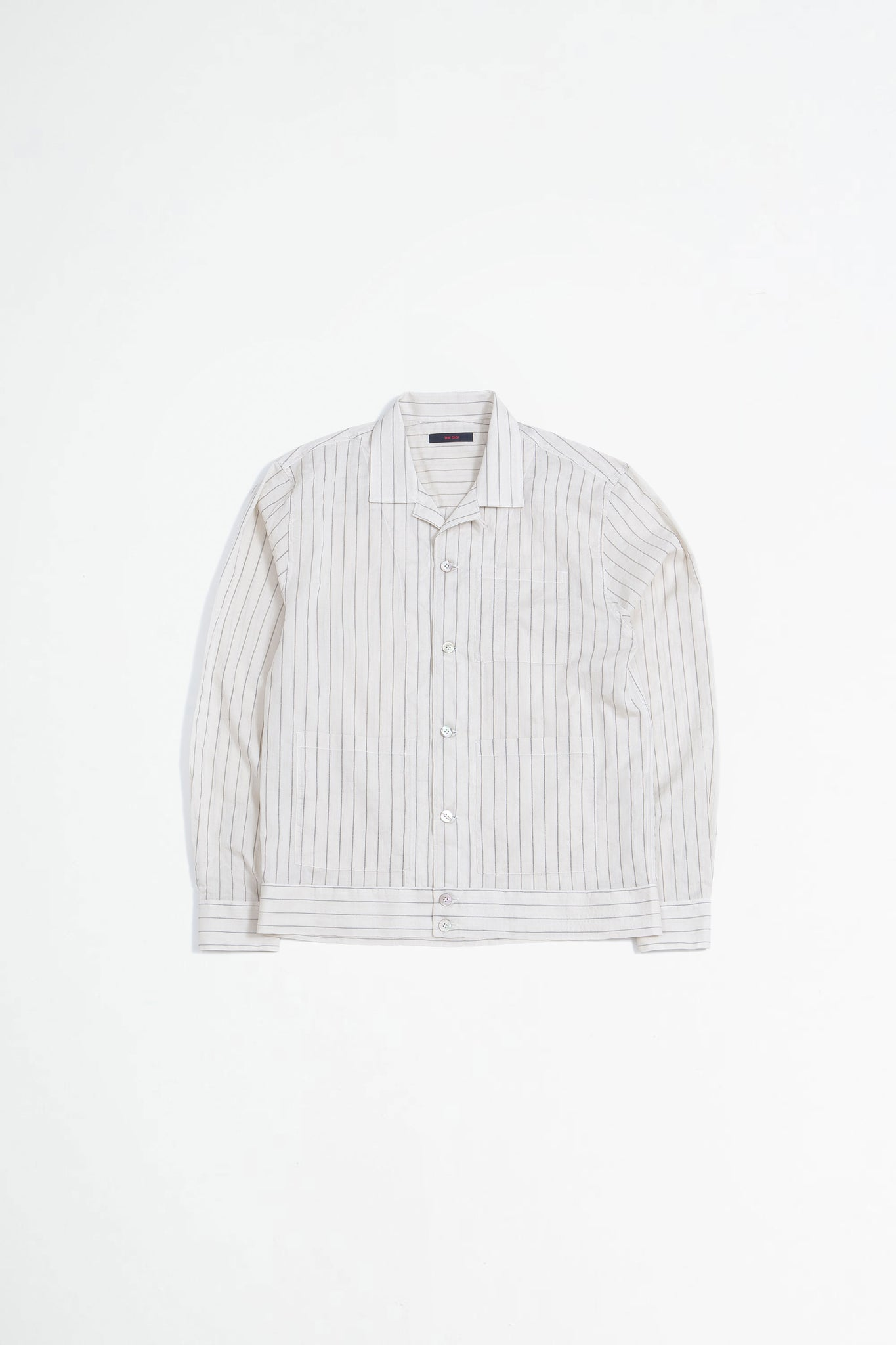 Bell jacket striped beige