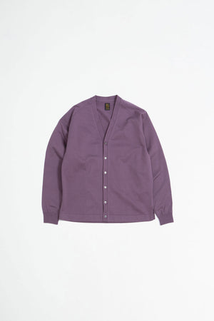 Standing v-neck cardigan purple