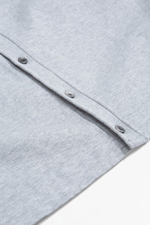 Standing v-neck cardigan grey