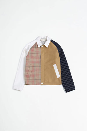 Jacket patchwork multi
