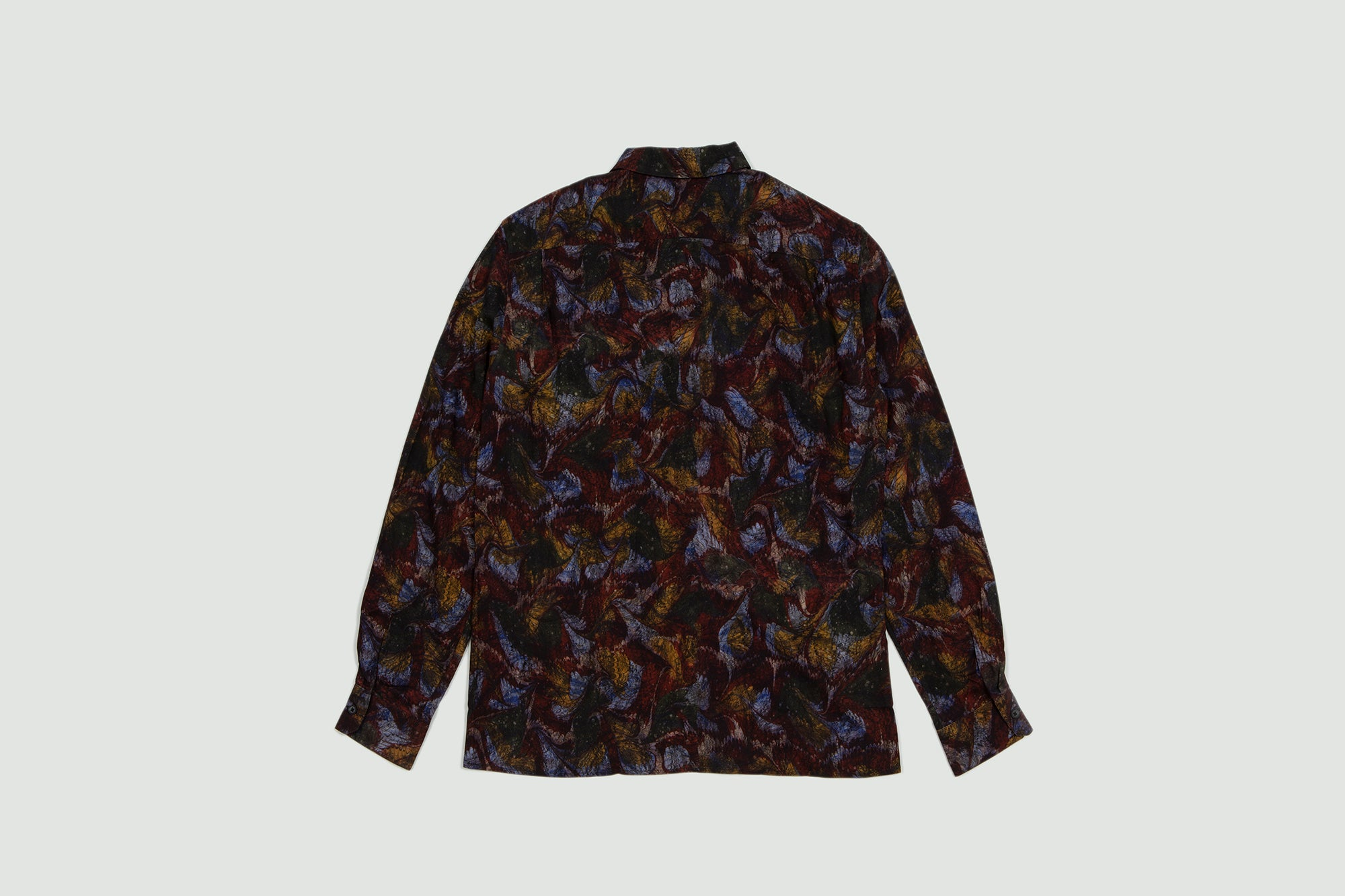 Lemaire. Spread collar shirt multicolor
