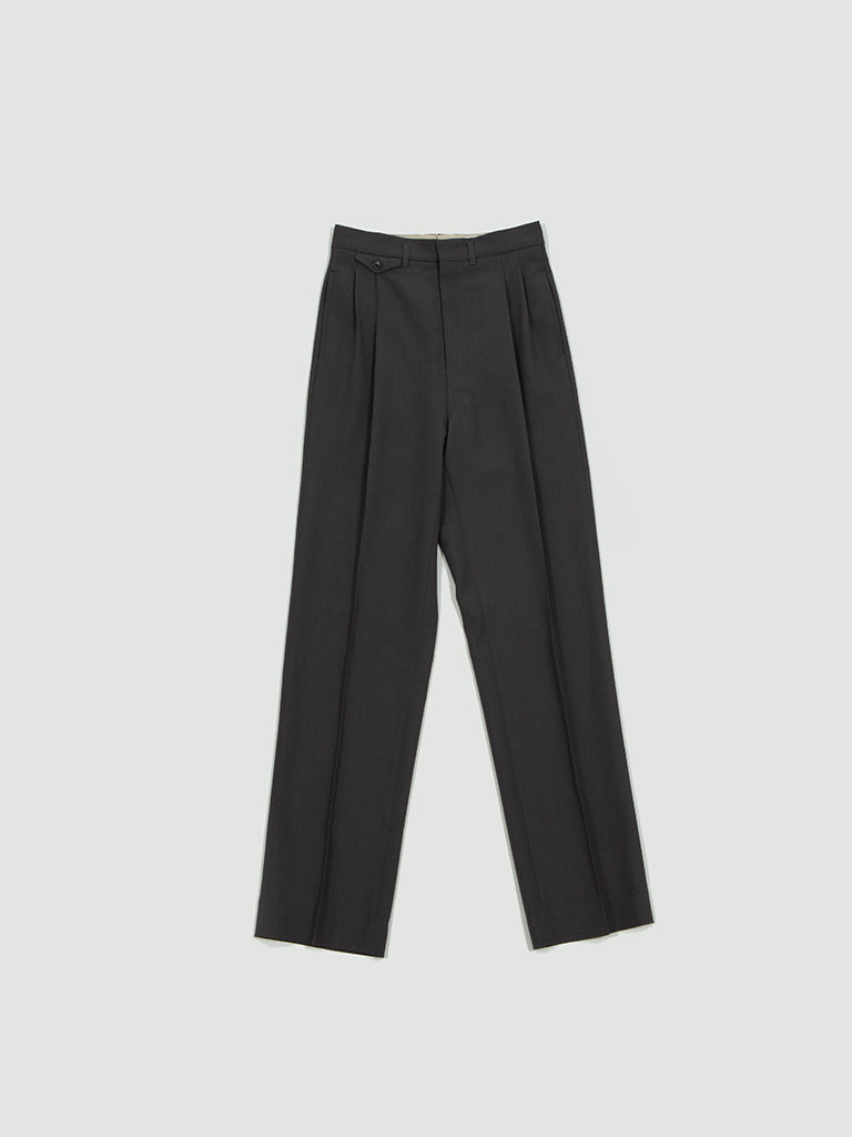 Lemaire. Two pleated pants grey