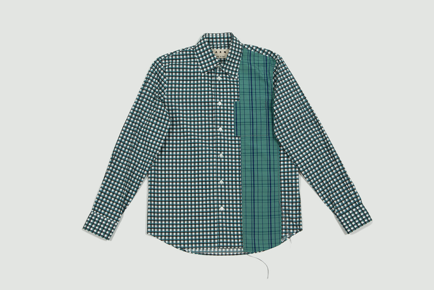 Marni. Printed shirt green