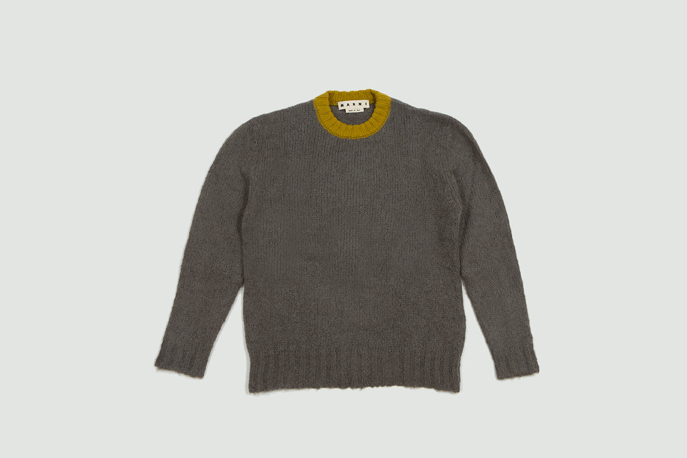 Marni. Crewneck WV sweater grey